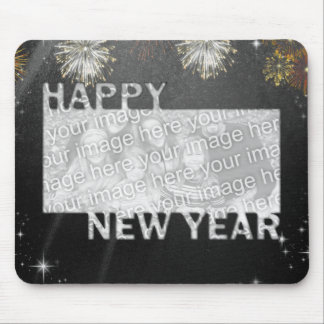 New Years Cut Out Photo Frame - Fireworks Mouse Pad