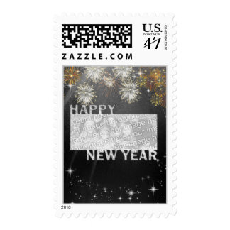 New Years Cut Out Photo Frame - Fireworks Postage