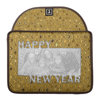 New Years Cut Out Photo Frame - Gold Sequins MacBook Pro Sleeves