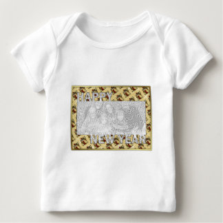New Years Cut Out Photo Frame - Jan 1st Baby T-Shirt