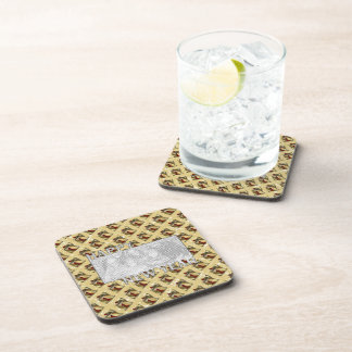 New Years Cut Out Photo Frame - Jan 1st Beverage Coaster