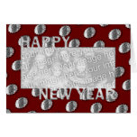New Years Cut Out Photo Frame Medallion Greeting Card