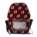 New Years Cut Out Photo Frame Medallion Commuter Bag