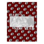New Years Cut Out Photo Frame Medallion Postcard