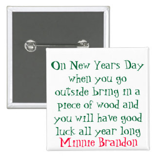 New Years Day Button
