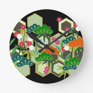 New Year's Day Japan Japanese Style Round Clock