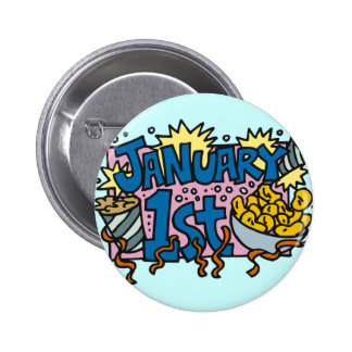 New Years Day Pinback Button