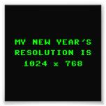 New Year's Display Resolution 1024x768 Photographic Print