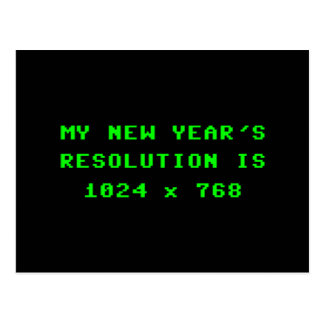 New Year's Display Resolution 1024x768 Postcard