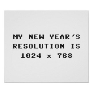 New Year's Display Resolution 1024x768 Poster