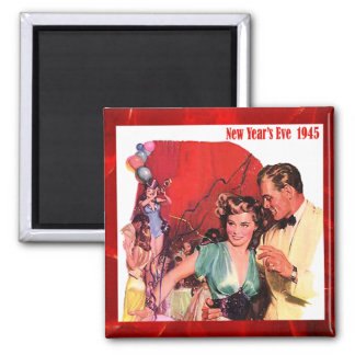 New Years Eve 1945 Vintage Magnet