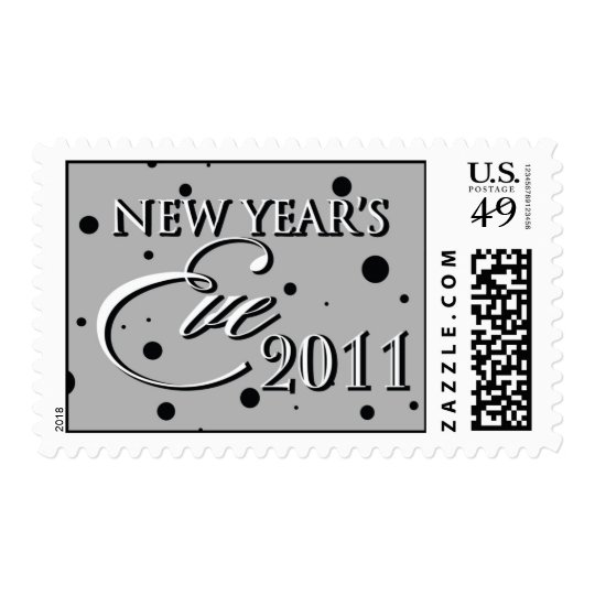 New Year's Eve 2011 Confetti stamp
