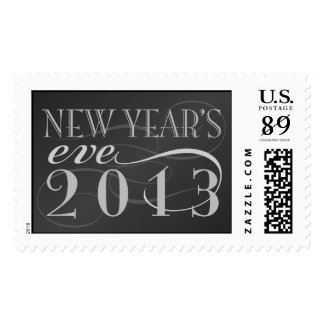 New Year's Eve 2013 Black Postage Stamp