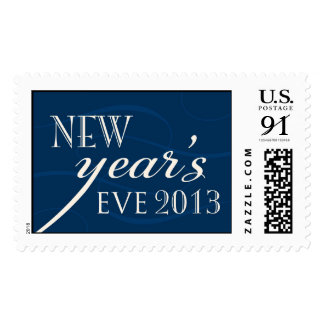 new year's eve 2013 navy and ivory postage
