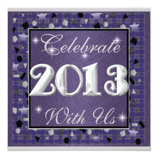 New Year's Eve 2013 Purple & Stars Invitations