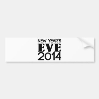 New Years Eve 2014 Bumper Stickers