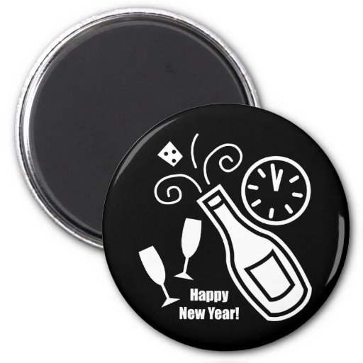 New Years Eve 2 Inch Round Magnet