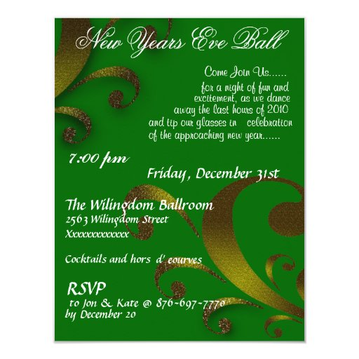 New Years Eve Ball Invitation