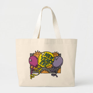 New Year's Eve Balloons Jumbo Tote Bag