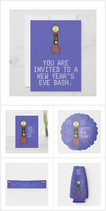 New Year's Eve Cards, Invites, Party Supplies