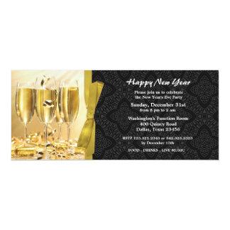 New Year's Eve Celebration Flat Inviation 4x9.25 Paper Invitation Card
