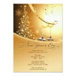 New Year's Eve Celebration Flat Invitation