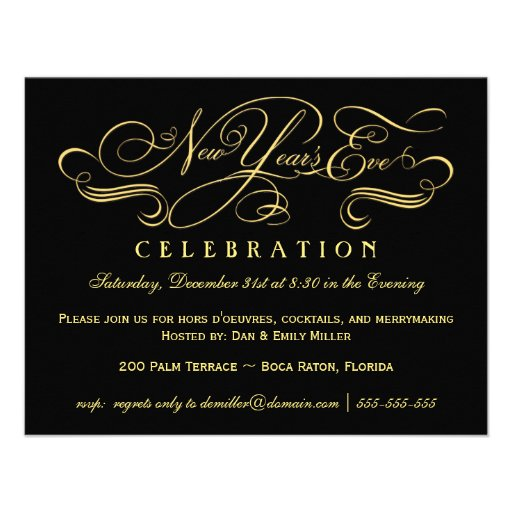 New Year's Eve Celebration Party Invitations