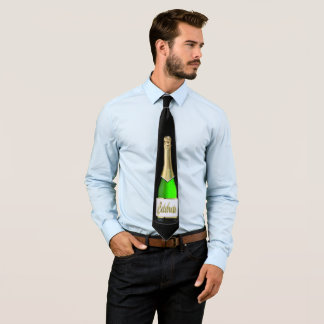 New Years Eve Champagne Bottle Celebrate Necktie
