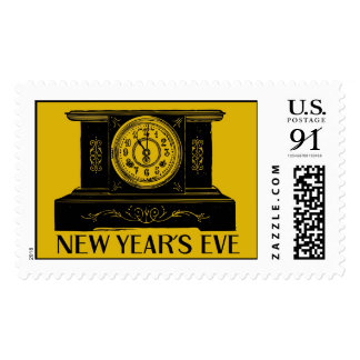 New Year's Eve Clock stamp