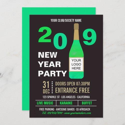 New Years Eve Club/Society Bash add Logo invite