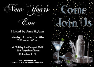 new years eve cocktail party invitation