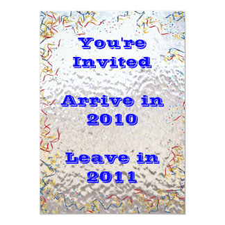 New Year's Eve Confetti in Stained Glass Card
