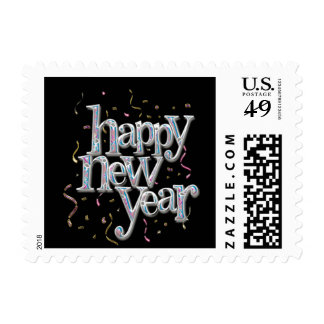 New Years Eve Confetti Postage