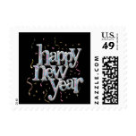 New Years Eve Confetti Postage Stamps