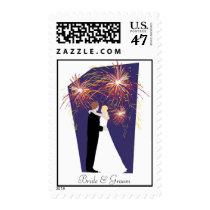New Year's Eve Custom Wedding Postage Stamp