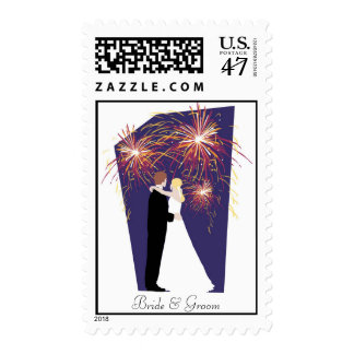 New Year's Eve Custom Wedding Postage Stamp