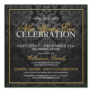 Celebrating New Years Eve Invitations & Announcements | Zazzle