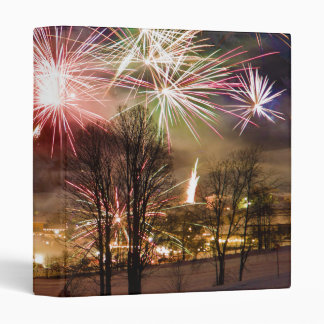 New Year's Eve Fireworks in Niederau Tyrol Austria 3 Ring Binder