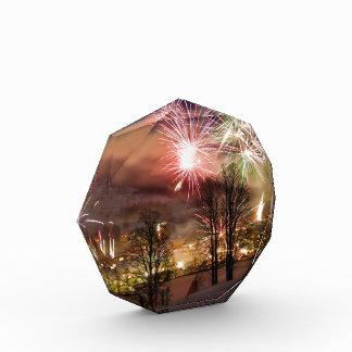 New Year's Eve Fireworks in Niederau Tyrol Austria Acrylic Award