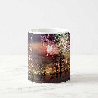 New Year's Eve Fireworks in Niederau Tyrol Austria Coffee Mug