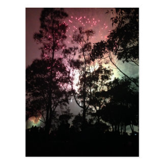 New Years Eve Fireworks Postcard