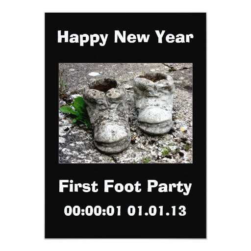 New Years Eve First Footing Party 2013 Card