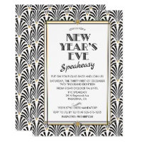 New Year's Eve Gatsby Art Deco Invitation