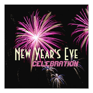 New Year's Eve Holiday Celebration Purple Card