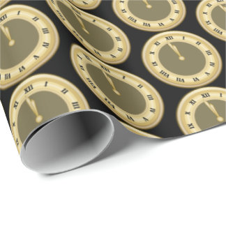 New Years Eve Holiday party tiled wrap Wrapping Paper