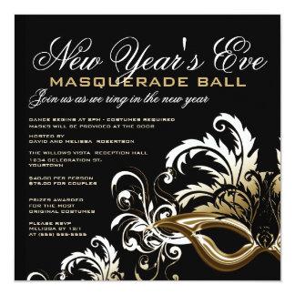 New Years Eve Masquerade Ball Invitations