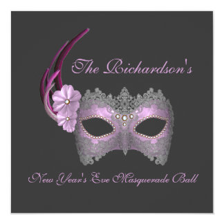 """New Year's Eve Masquerade Ball"" - Lilac Mask [1] Card"