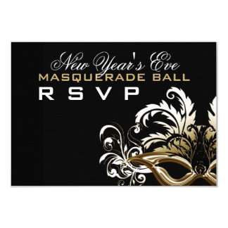 New Years Eve Masquerade Ball RSVP Card