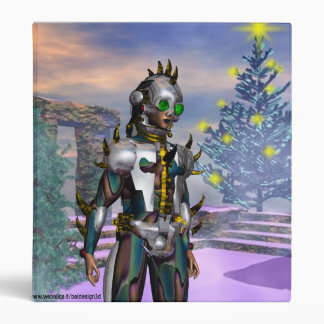 NEW YEAR'S EVE OF A CYBORG 3 RING BINDER