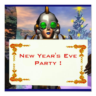NEW YEAR'S EVE OF A CYBORG CARD